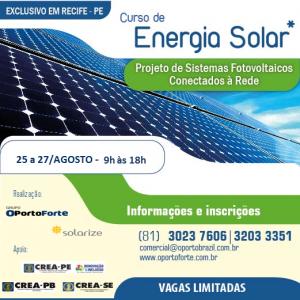 OPorto Brazil inscreve para curso completo de Energia Solar