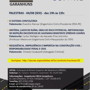 CREA na Estrada chega a Garanhuns nesta sexta-feira