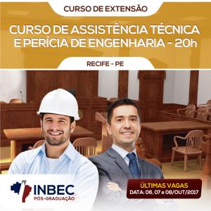 INBEC oferece curso de extensão em Assistência Técnica e Perícia de Engenharia.