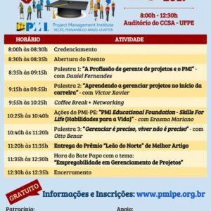 PMI-PE realiza evento gratuito para estudantes
