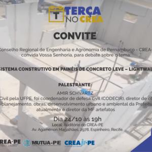 Sistema Construtivo em Painéis de Concreto Leve – Lightwall é tema do próximo Terça no CREA