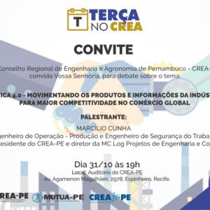 """""""Logística 4.0 – movimentando os produtos e informações da Indústria 4.0 para maior competitividade no comércio global"""" será debatida amanhã no Terça no CREA"""