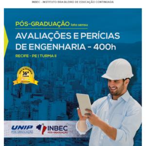 INBEC oferece Pós-graduação em Avaliações e Pericias de Engenharia