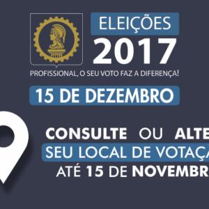 ELEIÇÕES 2017 – Locais de votação