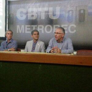 Representantes do CREA-PE realizam palestra institucional para profissionais da CBTU Metrorec
