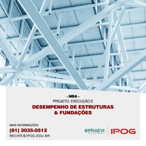 IPOG abre inscrições para MBA em Projeto, Execução e Desempenho de Estruturas e Fundações