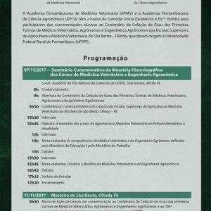 Academias comemoram centenário das primeiras turmas de Engenharia Agronômica e Medicina Veterinária