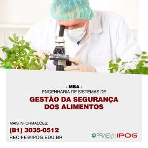IPOG oferece MBA na área de Engenharia de Segurança dos Alimentos