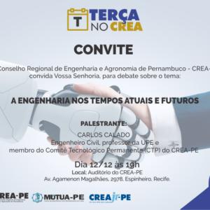 Professor Carlos Calado será o palestrante do Terça no CREA da próxima semana