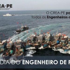 Dia Nacional do Engenheiro de Pesca: parabéns de todos que fazem o CREA-PE