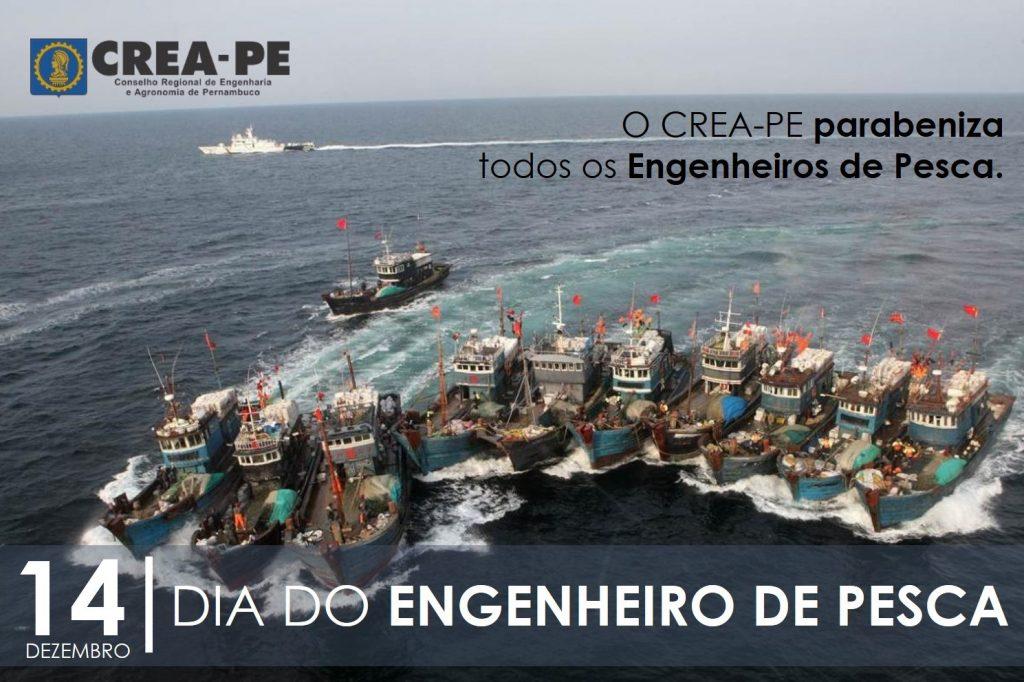 Read more about the article Dia Nacional do Engenheiro de Pesca: parabéns de todos que fazem o CREA-PE