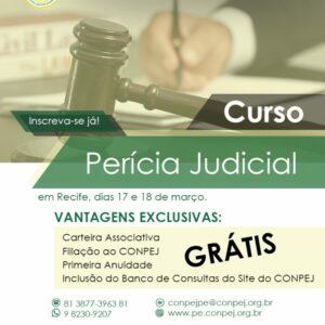 CONPEJ oferece curso de Perícia Judicial em Recife