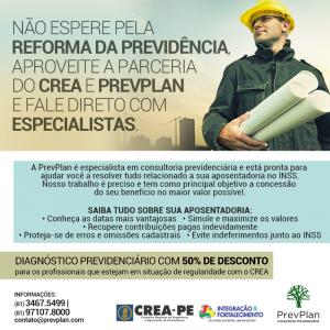 Nova parceria – PREVPLAN E CREA-PE