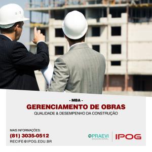 IPOG abre inscrições para o MBA Gerenciamento de Obras, Qualidade & Desempenho da Construção