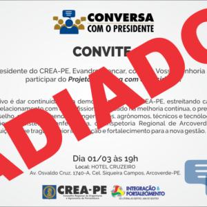 Projeto Conversa com o Presidente é adiado na cidade de Arcoverde