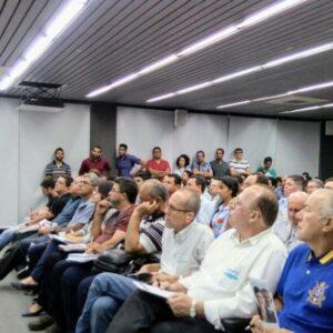 Auditório lotado prestigia palestra sobre Sistemas de Impermeabilização no Terça no CREA