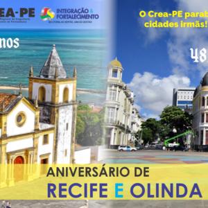 CREA-PE parabeniza as cidades irmãs: Recife e Olinda