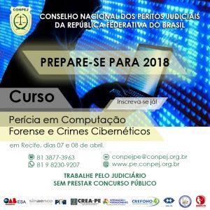 CONPEJ oferece curso de Perícia, Computação Forense e Crimes Cibernéticos