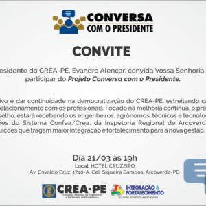 Projeto Conversa com o Presidente visita cidade de Arcoverde