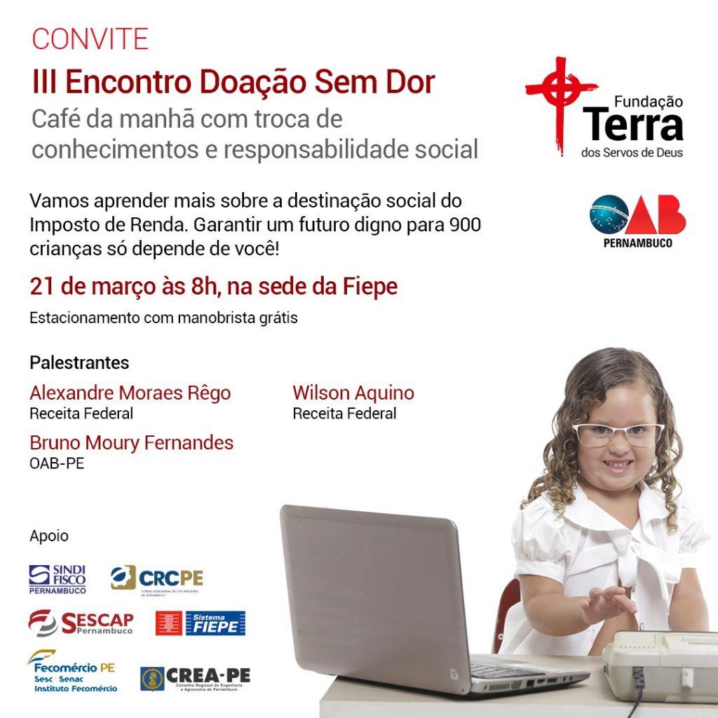 Read more about the article Parceira do CREA-PE, Fundação Terra promoveIII Encontro Doação Sem Dor