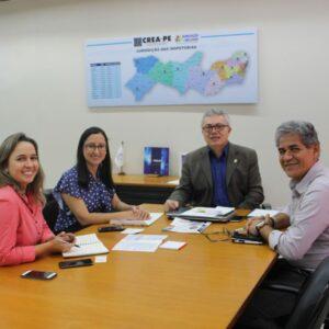 CREA-PE e Fundação Terra se reuniram nesta segunda-feira