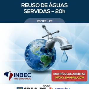 INBEC oferece curso de extensão sobre Reuso de Águas Servidas