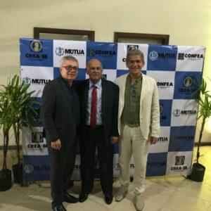 Evandro Alencar comparece a cerimônia de posse do Presidente Arício Resende, do CREA-SE