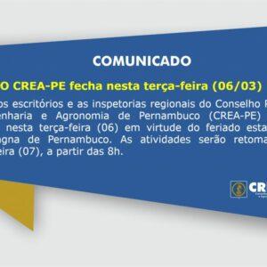 Feriado Estadual – Data Magna de Pernambuco