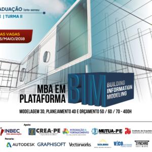 INBEC oferece MBA Plataforma BIM