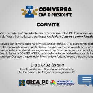 Projeto Conversa com o Presidente visitaAfogadosdaIngazeirana próxima semana
