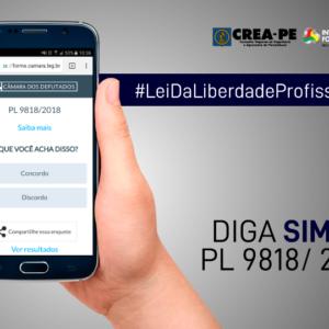 Diga SIM ao PL 9818/2018