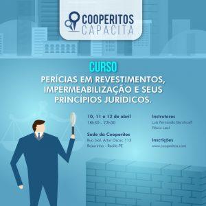 Cooperitos Capacita oferece curso sobre Perícias em revestimentos, impermeabilização e seus princípios jurídicos