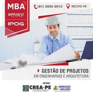 MBA em Gestão de Projetos em Engenharias e Arquitetura da PRAEVI|IPOG prepara profissionais para o PMI.