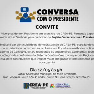 Projeto Conversa com o Presidente visita cidade de Gravatá