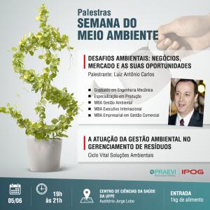 IPOG oferece palestra na Semana Nacional do Meio Ambiente