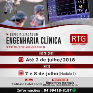 Pós-Graduação em Engenharia Clínica é oferecido pela RTG