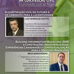 Sebrae oferece o 1º Seminário de Inovação na Construção Civil