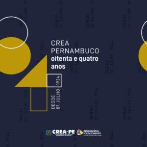 CREA-PE comemora 84 de história!