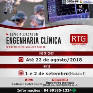 RTG oferece Pós-graduação Lato Sensu em Engenharia Clínica