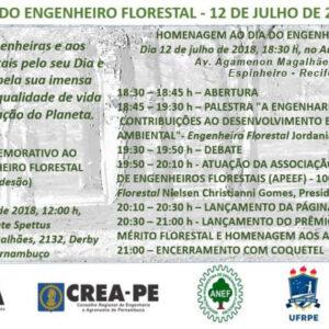 Agenda comemorativa para o Dia do Engenheiro Florestal