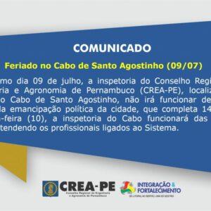 Feriado no Cabo de Santo Agostinho (09/07)