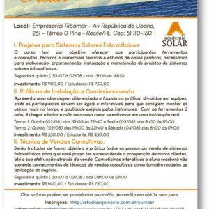 Rota Solar oferece cursos para Sistemas Solares Fotovoltáicos