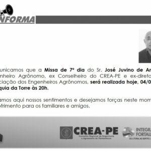 Missa de 7º Dia do Engenheiro Agrônomo, José Juvino de Araújo