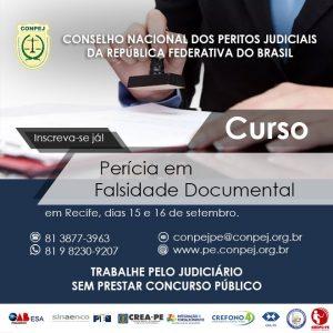 CONPEJ oferece curso de Perícia em Falsidade Documental