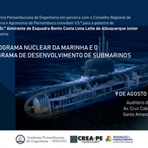 Programa Nuclear e de Submarinos da Marinha é tema de palestra na FIEPE