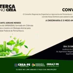 A relação entre a Engenharia e o Meio Ambiente será tema do Terça no CREA