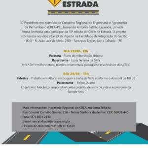 CREA na Estrada chega hoje a Serra Talhada