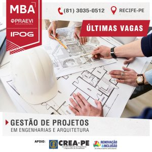 PRAEVI | IPOG oferece MBA em Gestão de Projetos em Engenharias e Arquitetura