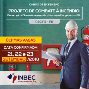 INBEC oferece Curso de Extensão em PROJETO DE COMBATE À INCÊNDIO: Elaboração e Dimensionamento de Hidrantes e Mangotinhos