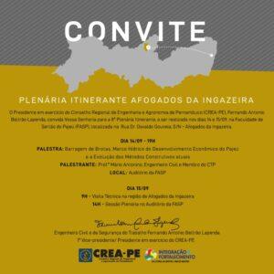 Plenária Itinerante do CREA-PE acontece amanhã em Afogados da Ingazeira
